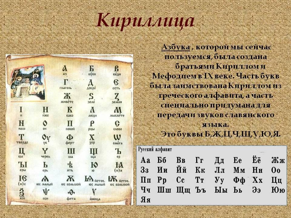 Кто создал русский алфавит?